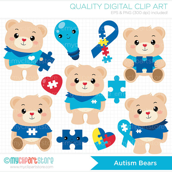 Bears bear autistic . Autism clipart special need