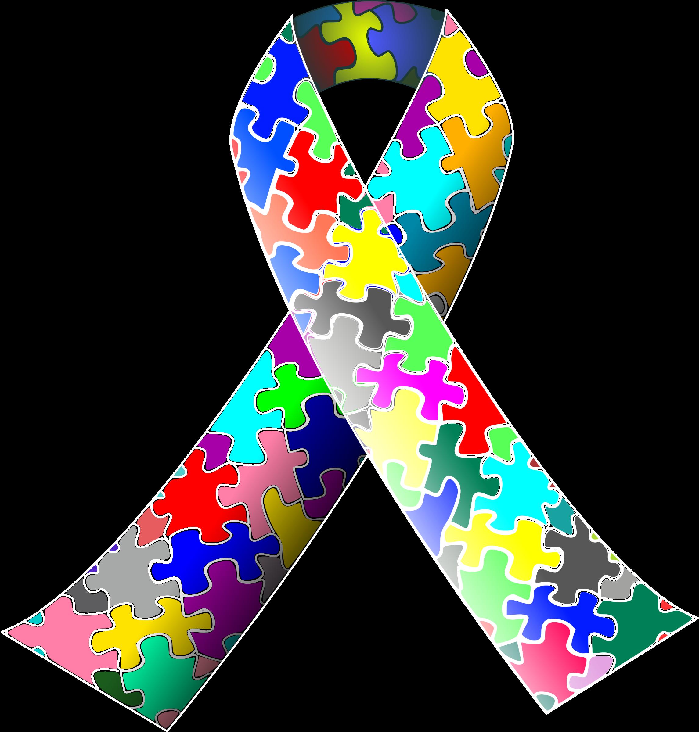 Puzzle clipart autism. Ribbon big image png