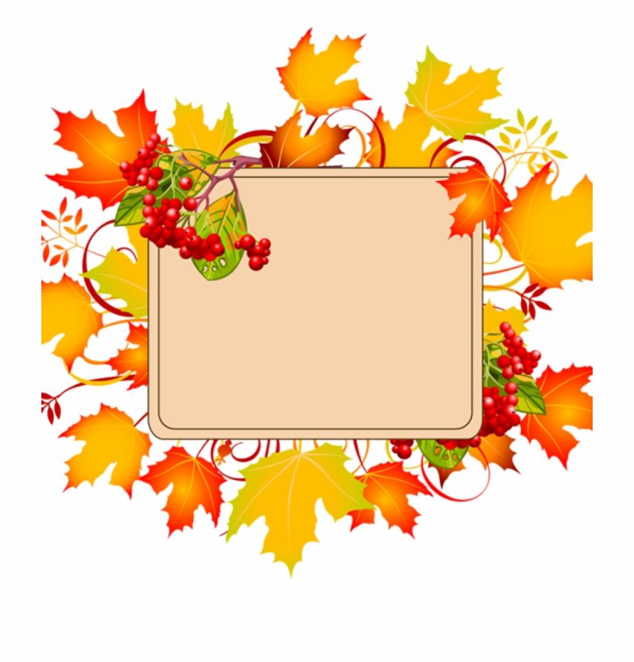 Autumn clipart. Fall border free borders