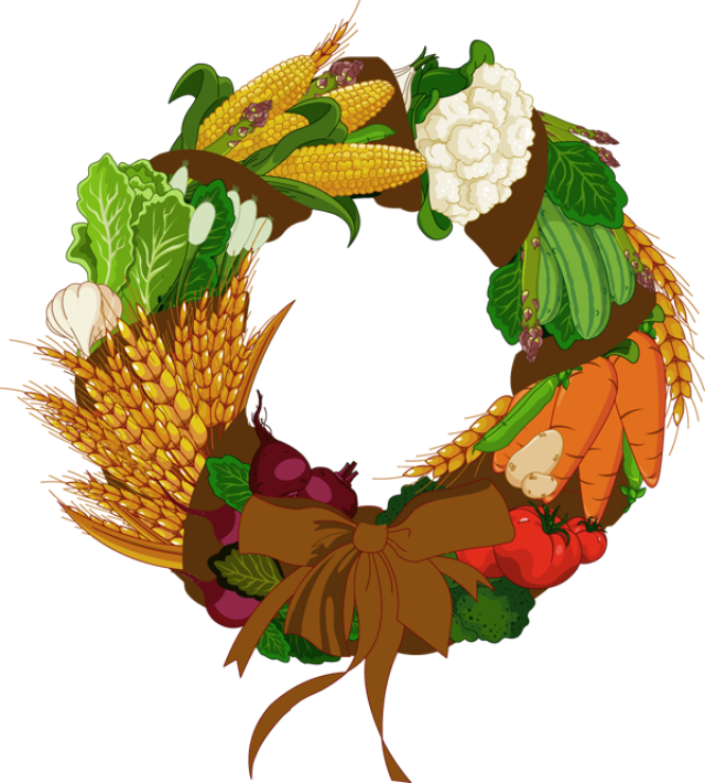 Colorful clip art for. Tree clipart vegetable