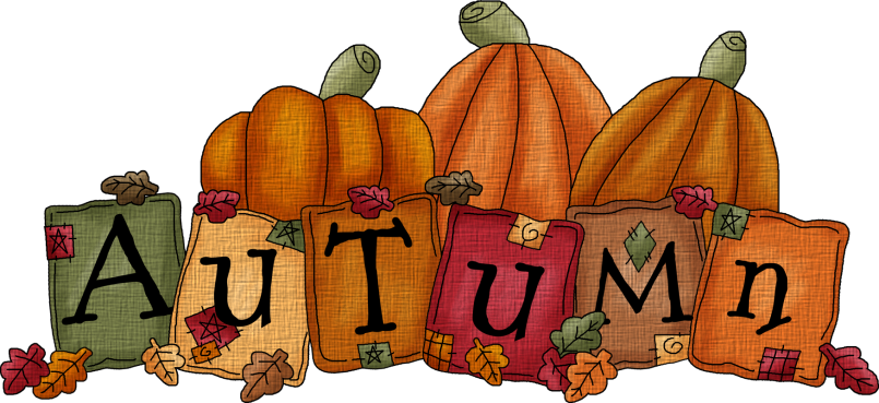 Autumn clipart autumn season. The word clip art