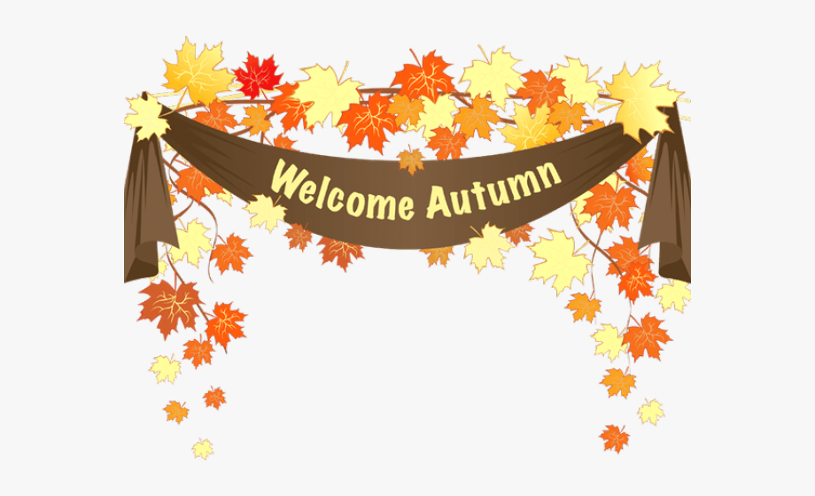 Autumn clipart autumn season. Fall welcome frame with