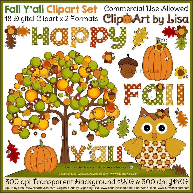 Happy fall y all. Autumn clipart autumn word