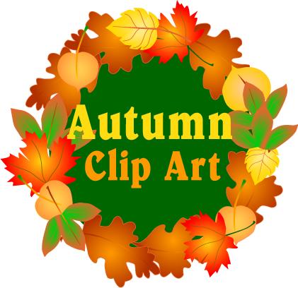 Autumn clipart autumn word. Clip art fall season