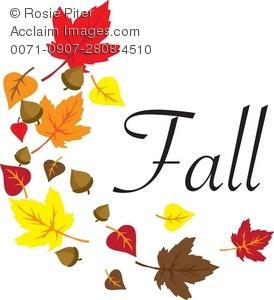 Clip art illustration of. Autumn clipart autumn word