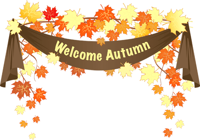 Colorful clip art for. Autumn clipart banner