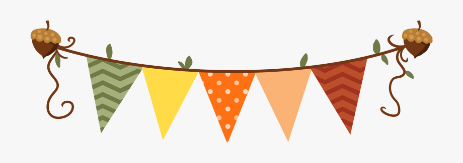 Autumn clipart banner. Fall bunting clip art