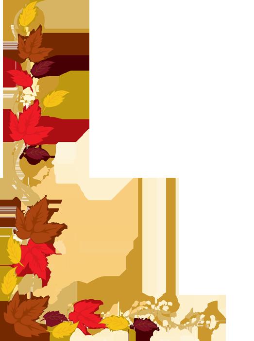 Fall leaves panda free. Clipart tv border