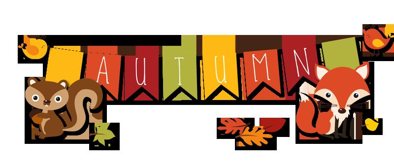 Autumn clipart banner. Fall the cutest blog