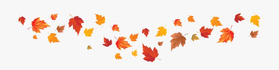 Fall leaves clip art. Autumn clipart banner