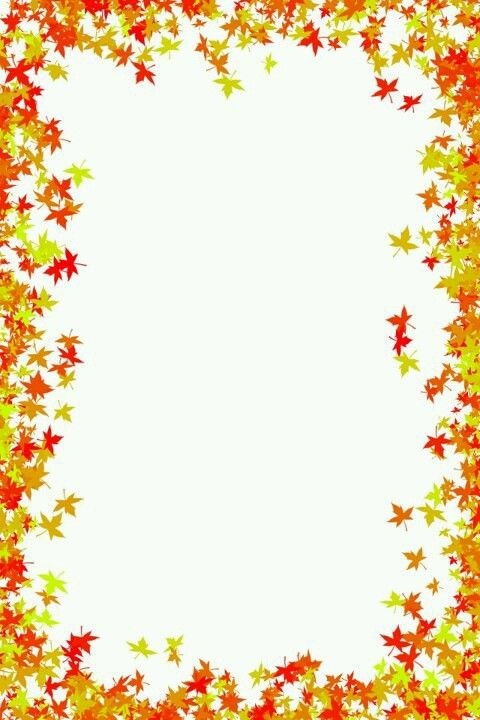 Autumn clipart boarder.  best halloween fall