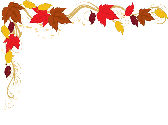 Fall leaves border png. Autumn clip art free