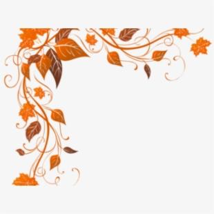 Leaves corner border . Autumn clipart boarder
