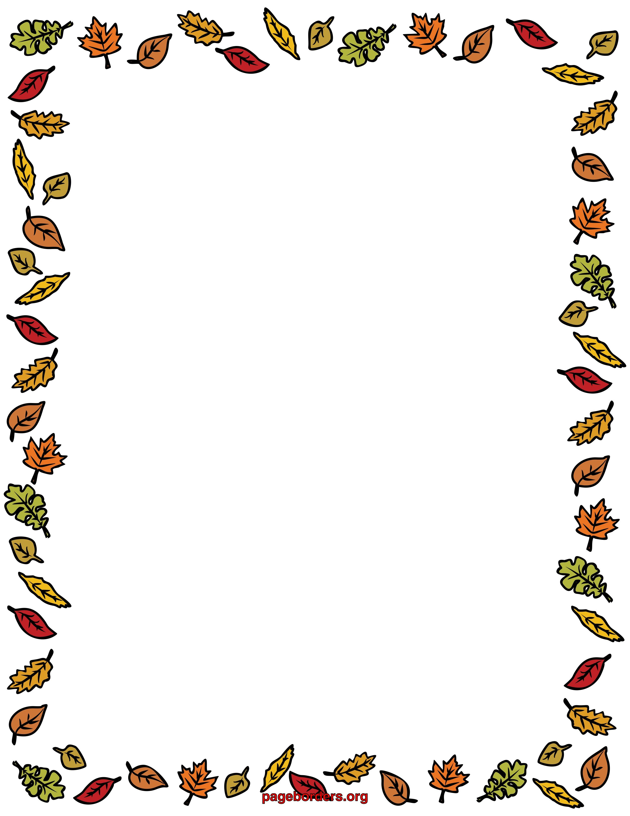 Autumn clipart borders. Free coloring pages of