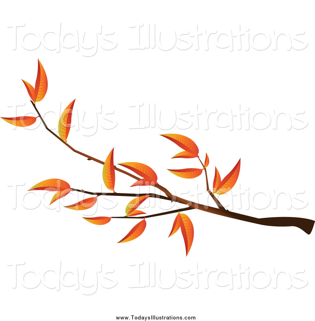 Autumn clipart branch. Of an tree by