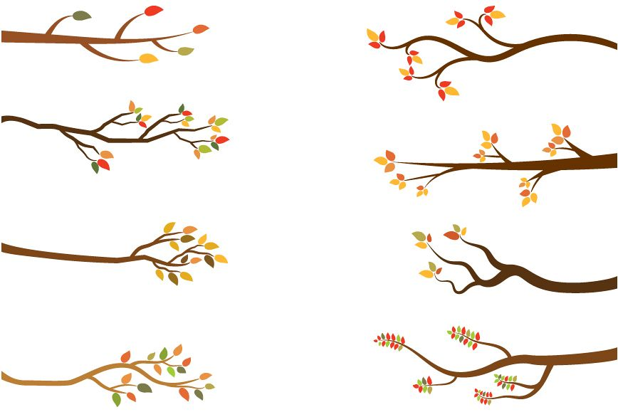 Fall branches clip art. Autumn clipart branch