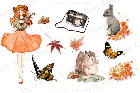 Fall love clip art. Autumn clipart butterfly