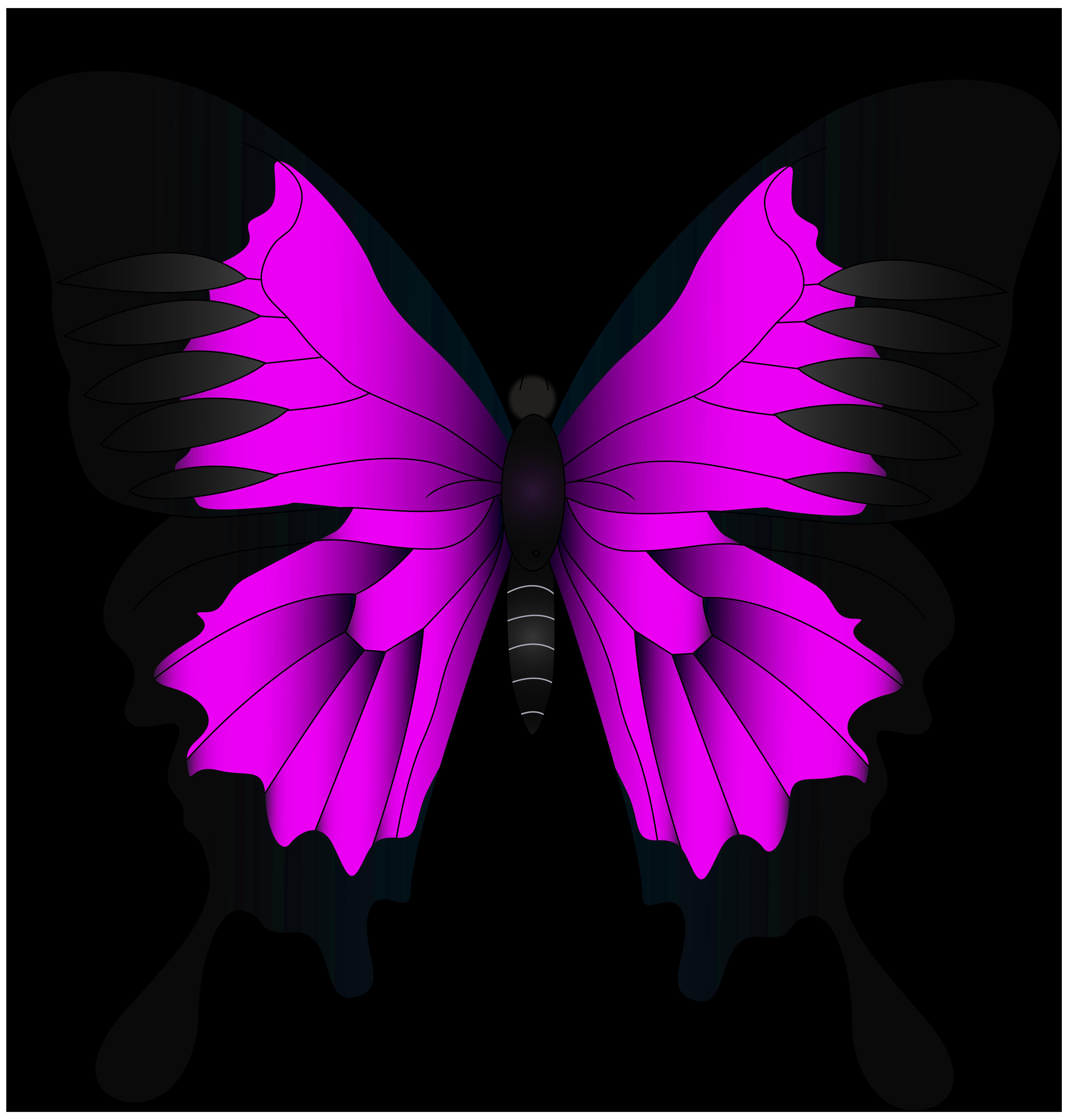 Pink png clip art. Autumn clipart butterfly