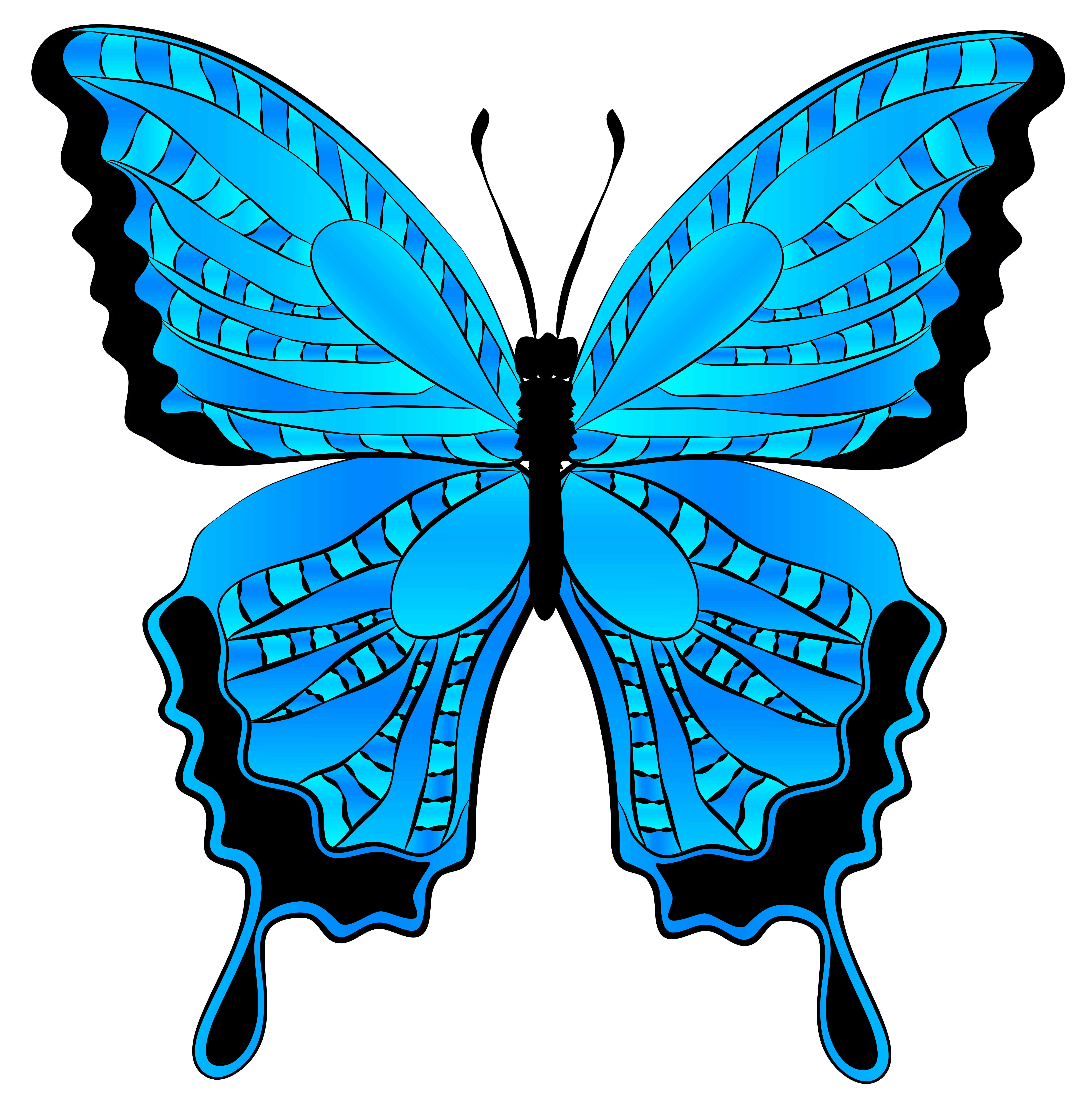 Autumn clipart butterfly. Blue image gallery yopriceville