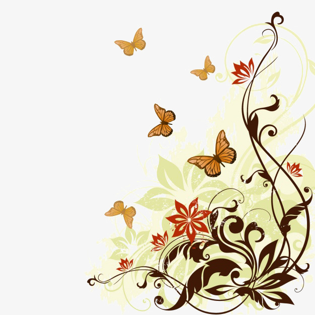 Autumn clipart butterfly. Background png image and