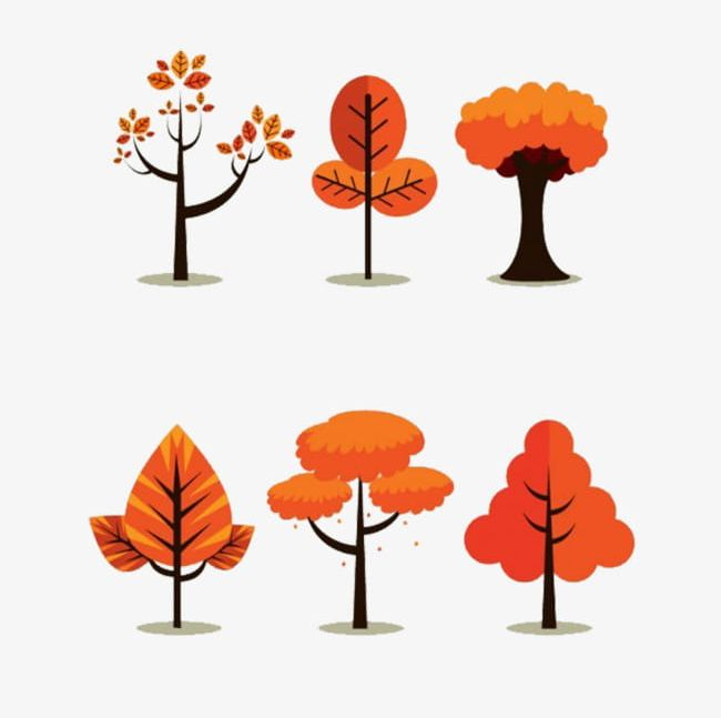 Trees material png . Autumn clipart cartoon