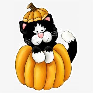 Png fall cliparts cartoons. Autumn clipart cat