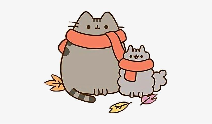 Autumn clipart cat. Kawaii transparent png x