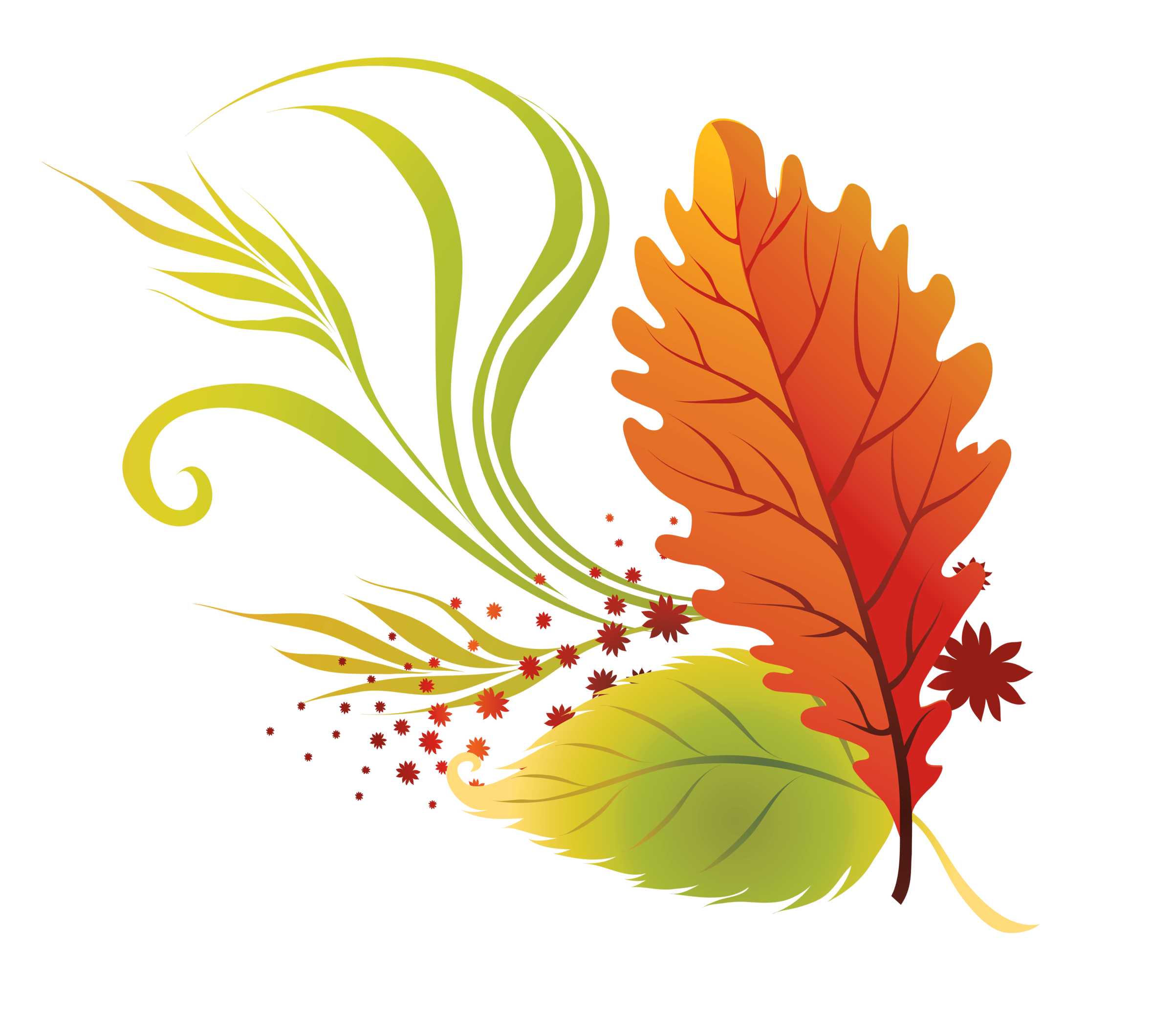 Fall leaves clip art. Families clipart autumn