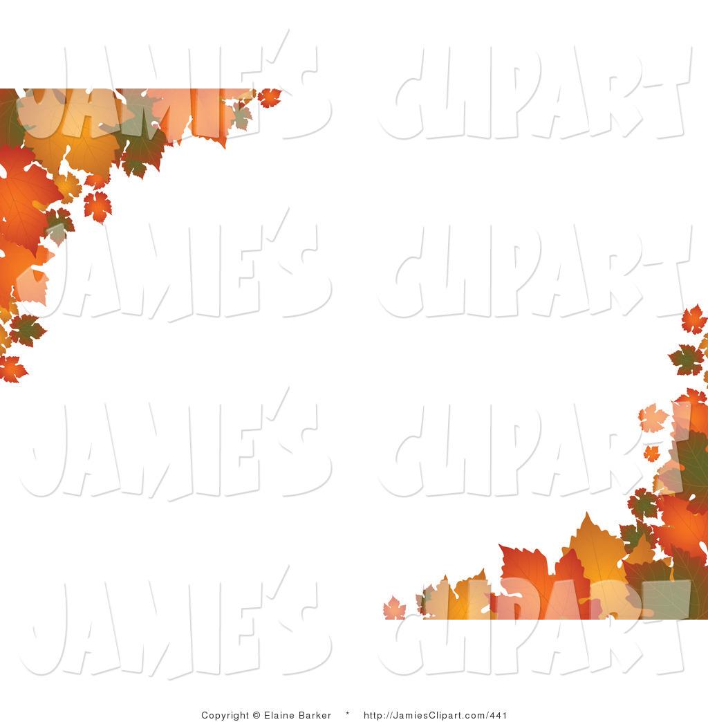 Autumn clipart corner. Clip art of colorful