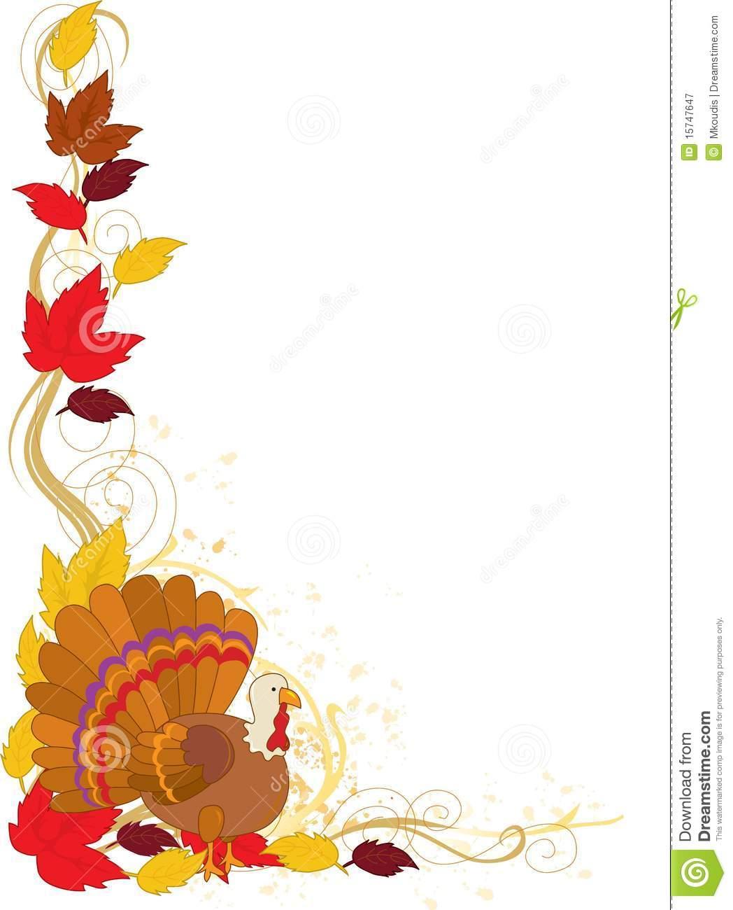 Autumn clipart corner. Turkey border clip art