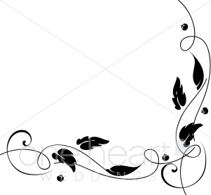 Ivy clipart accent. Gentle vine fall borders