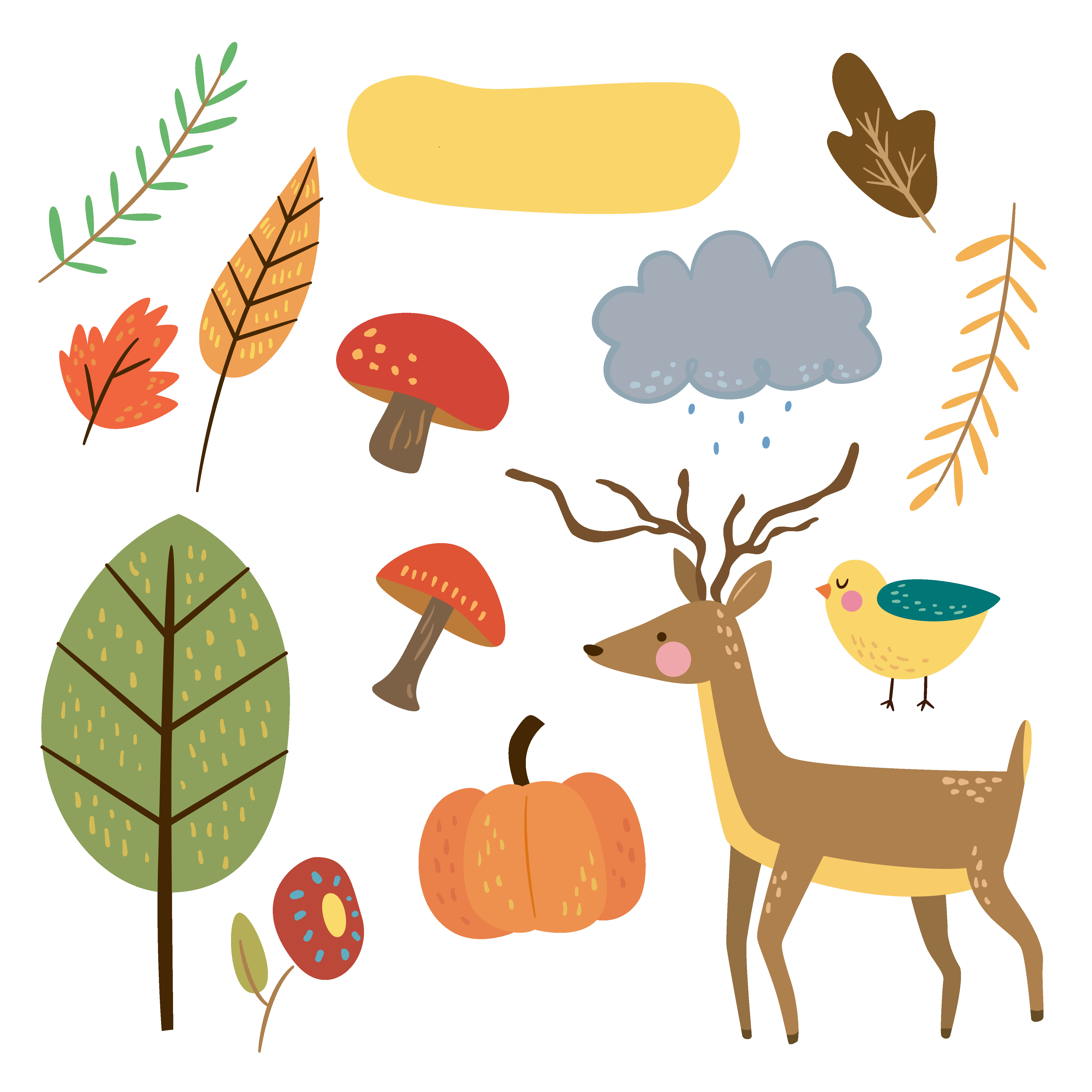 Free animal fptfy png. Autumn clipart cute