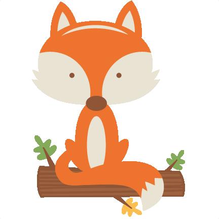 Autumn clipart cute. Fall fox svg scrapbook