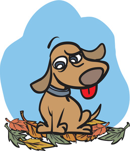 Autumn clipart dog. Free image illustration of