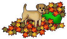 Free fall or clip. Autumn clipart dog