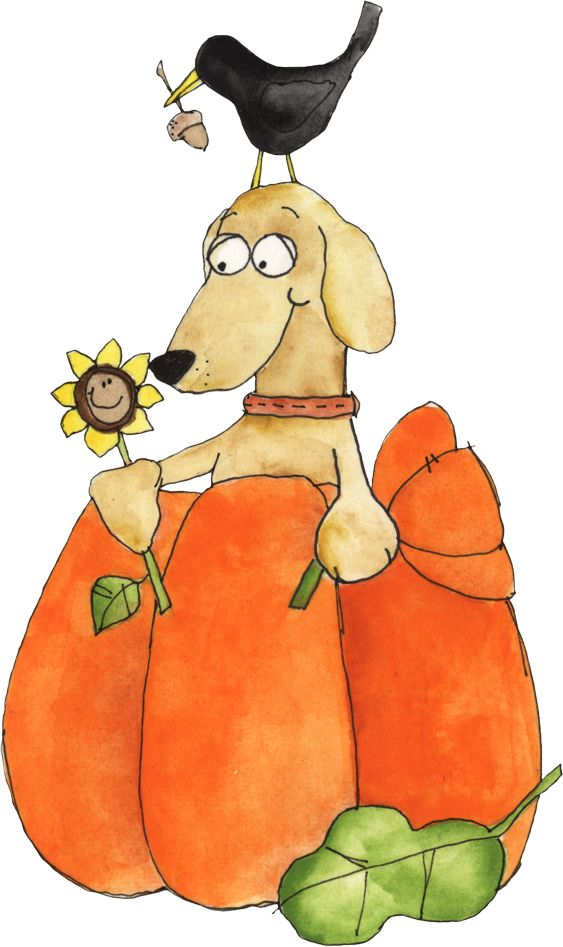 best clip art. Autumn clipart dog