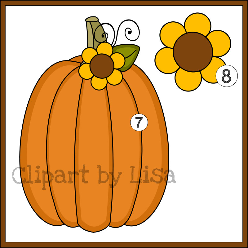 Autumn clipart elegant. Fall pumpkin happy y