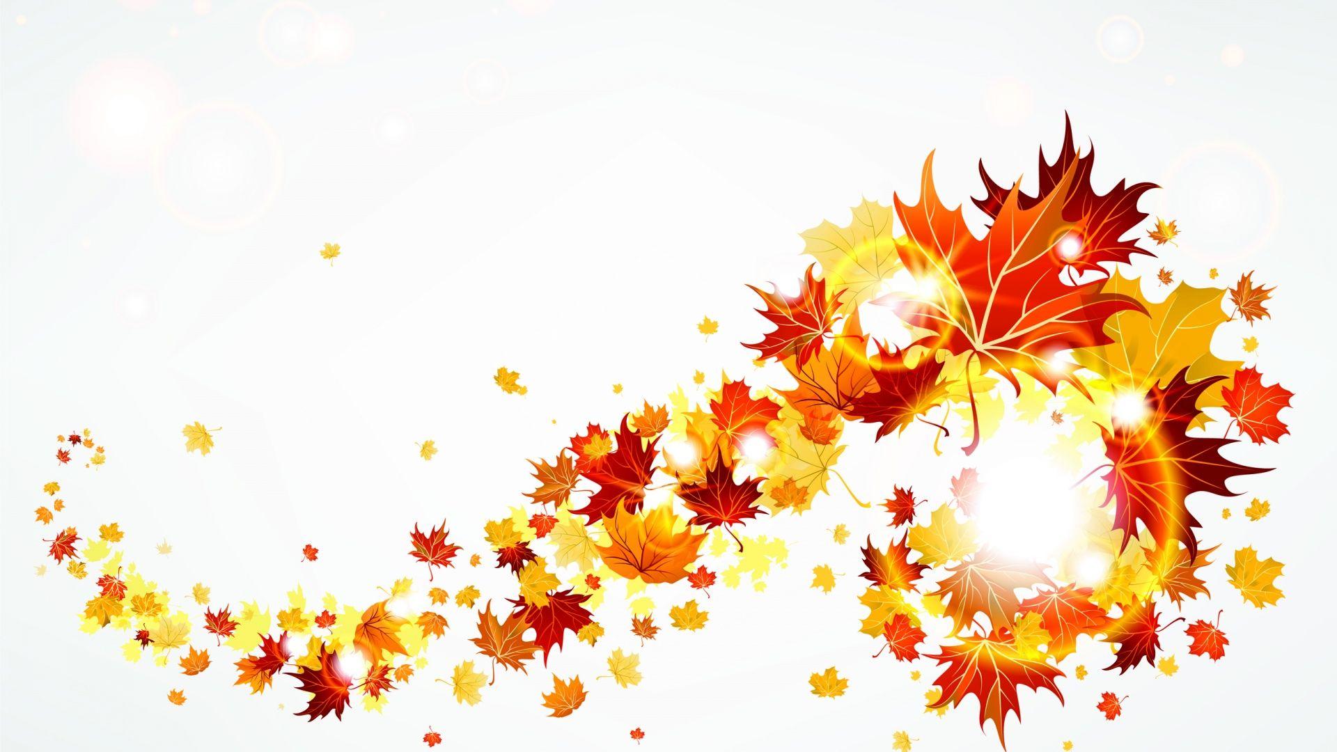 Fall leaves clip art. Autumn clipart elegant