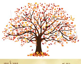 Autumn clipart family. Tree natural looking green