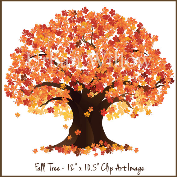 Tree clip art fall. Autumn clipart family