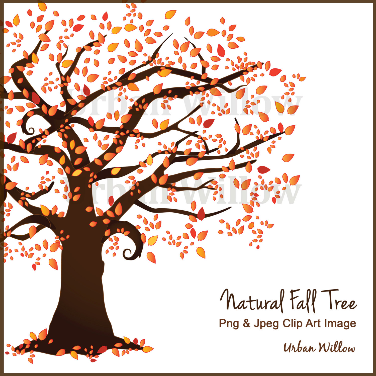 Autumn clipart family. Beautiful tree scrapbook trees