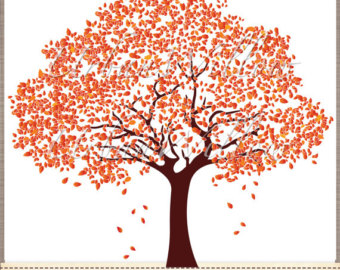 Fall tree images beautiful. Autumn clipart family