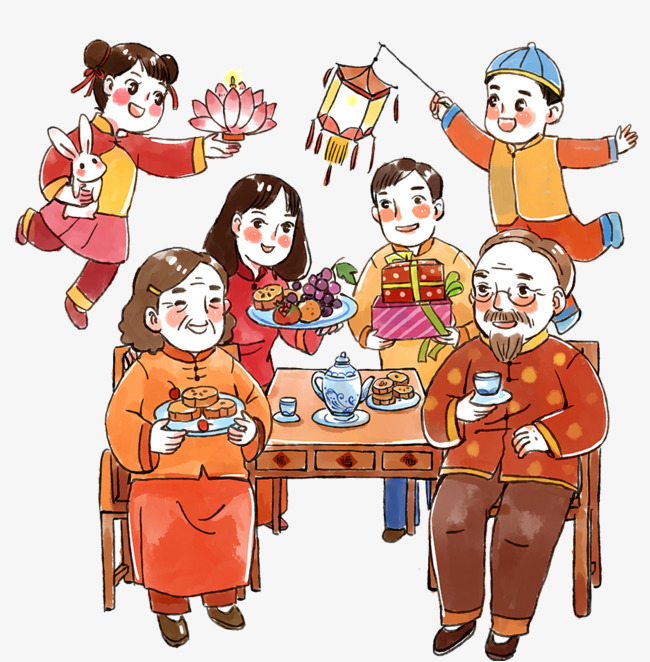 Mid festival reunion whole. Autumn clipart family