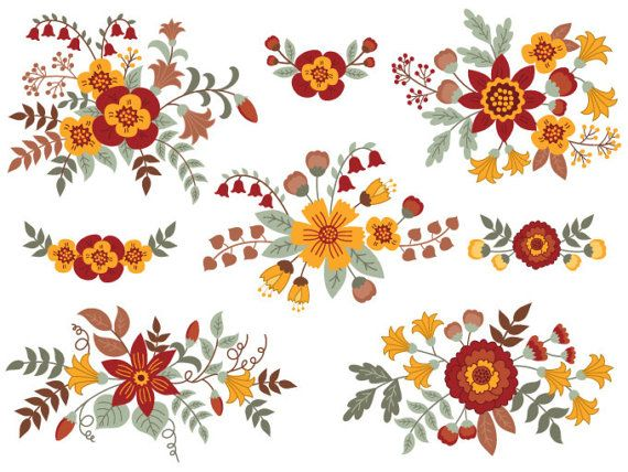 Bouquet clipart autumn.  best digital by