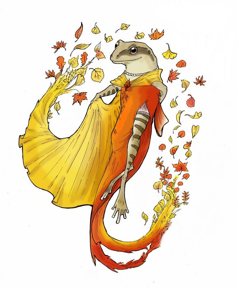 Autumn clipart frog. By eurwentala on deviantart