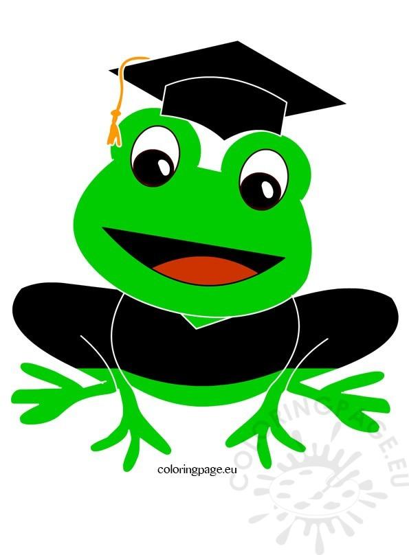 Bee clipart graduation. Frog clip art coloring