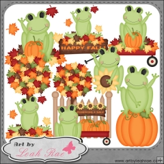 collection of fall. Autumn clipart frog