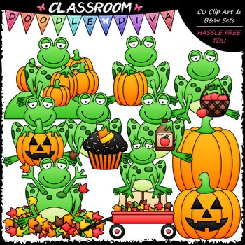 Autumn clipart frog. Fall frogs clip art