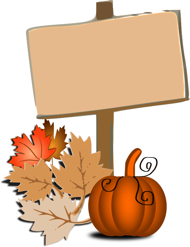 Fall clip art medium. Autumn clipart happy birthday