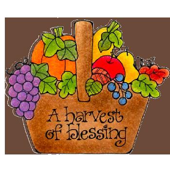 Blessings clip art colored. Autumn clipart harvest